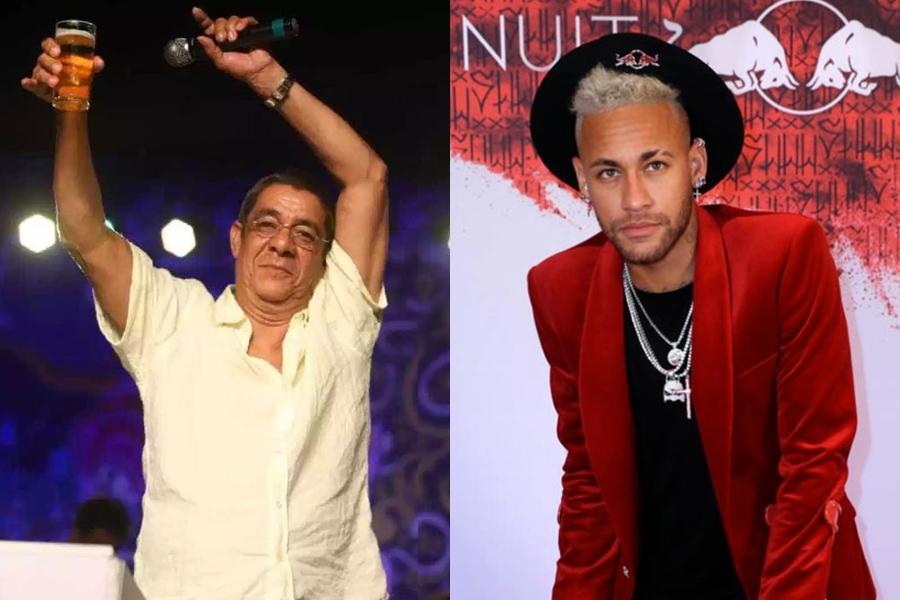 Aniversários diferentes  Neymar faz festa luxuosa em Paris e Zeca Pagodinho  celebra com muita cerveja no Rio! a5aac9ba75